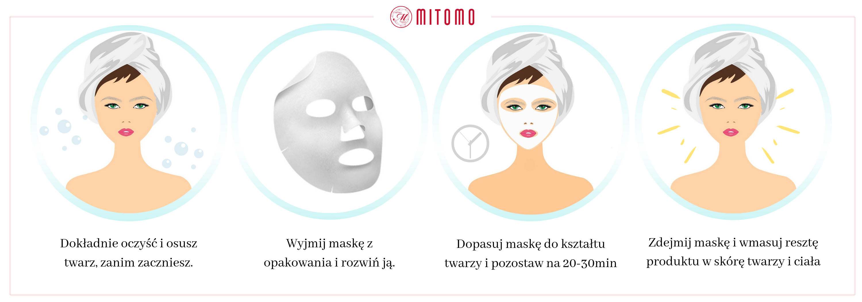 Oczysć i osusz twarz 2 - Czarna maska ze złotem i olejem końskim