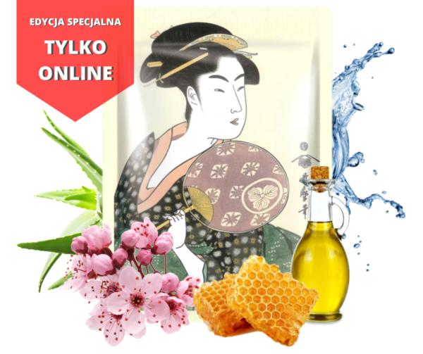2 600x503 - Maska z Mleczkiem Pszczelim i Kwiatem Wiśni Japońskiej